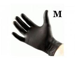 Перчатки латекс чёрные (20 шт. размер M)